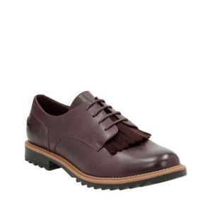 Clarks Griffin Mabel Burgundy Brogues